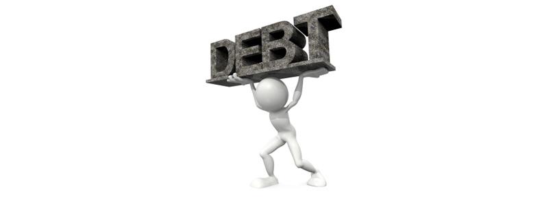 Debt sign 1
