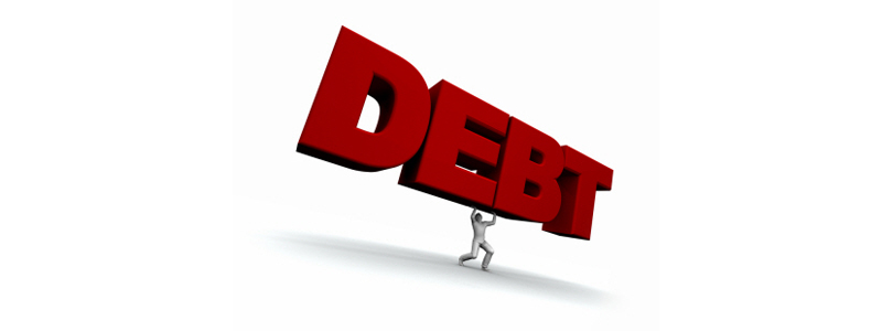 Debt sign 2